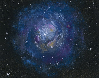 Nebula - gouache on watercolor paper