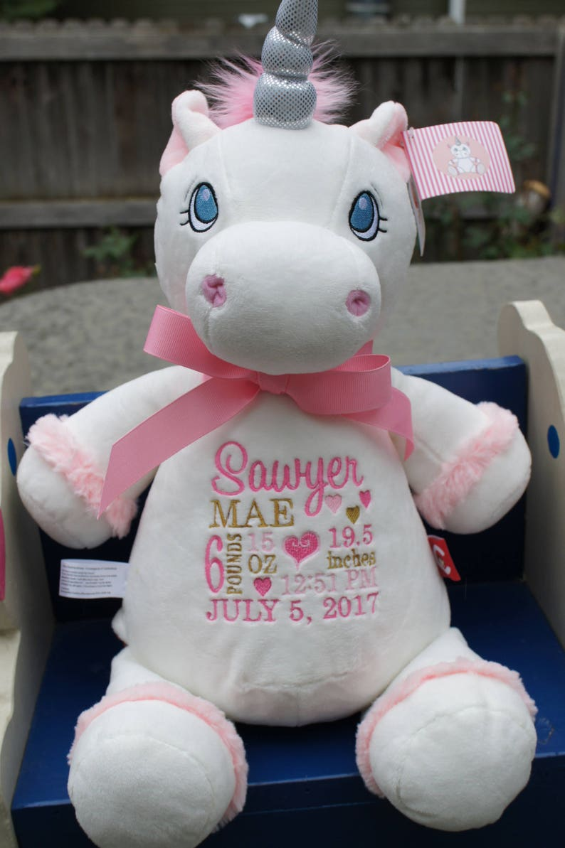 076382958d8 Personalized Baby Gift Baby Cubbies Unicorn