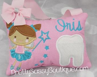 Birthday gift Ballerina Tooth fairy pillow girl Personalized tooth pillow Tooth Fairy Pillow Baby shower gift Fairy Flower girl gift