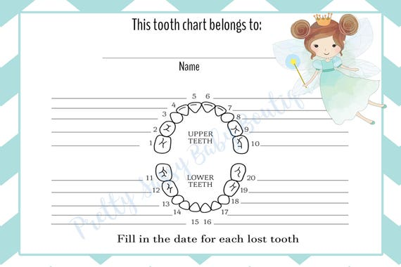photograph relating to Printable Tooth Chart known as Teeth Fairy Chart * Electronic Enamel Fairy Chart* Printable Enamel Fairy Chart * Quick Down load Enamel Fairy Enamel Chart * Boys Teeth Chart