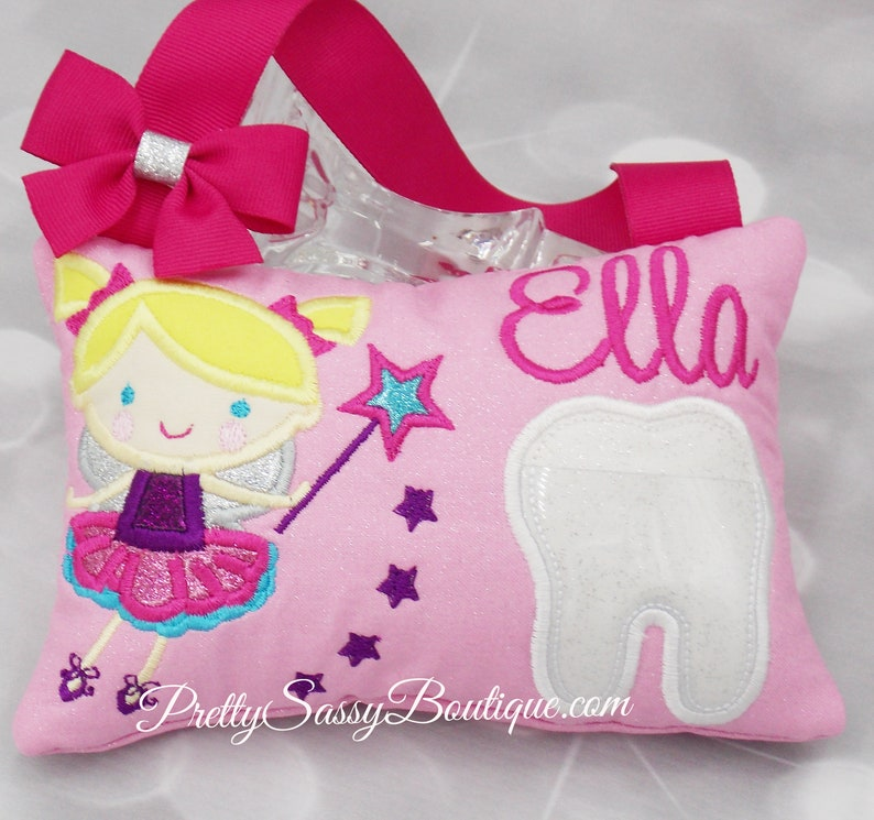 Tooth Fairy Pillow Tooth Pillow Girls Girl Birthday Gift Ideas Princess Tooth Fairy Pillow