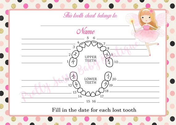 photo regarding Printable Tooth Chart referred to as Enamel Fairy Chart * Electronic Teeth Fairy Chart * Printable Enamel Fairy Chart * Fast Down load Enamel Fairy Teeth Chart *