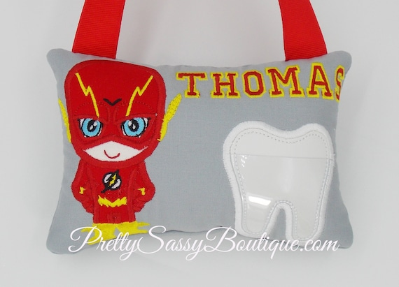 Boy Personalized Tooth Fairy Pillow ~ Gift  ~ Boy Pillow  ~ Birthday Gift ~ Police Tooth Fairy Pillow ~ Gift ~ Police Pillow ~ Superhero
