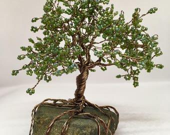 Miniature Wire Beaded Tree | A Tree of Grounding