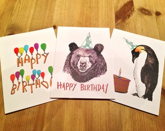 Happy Birthday Greeting Cards Pack
