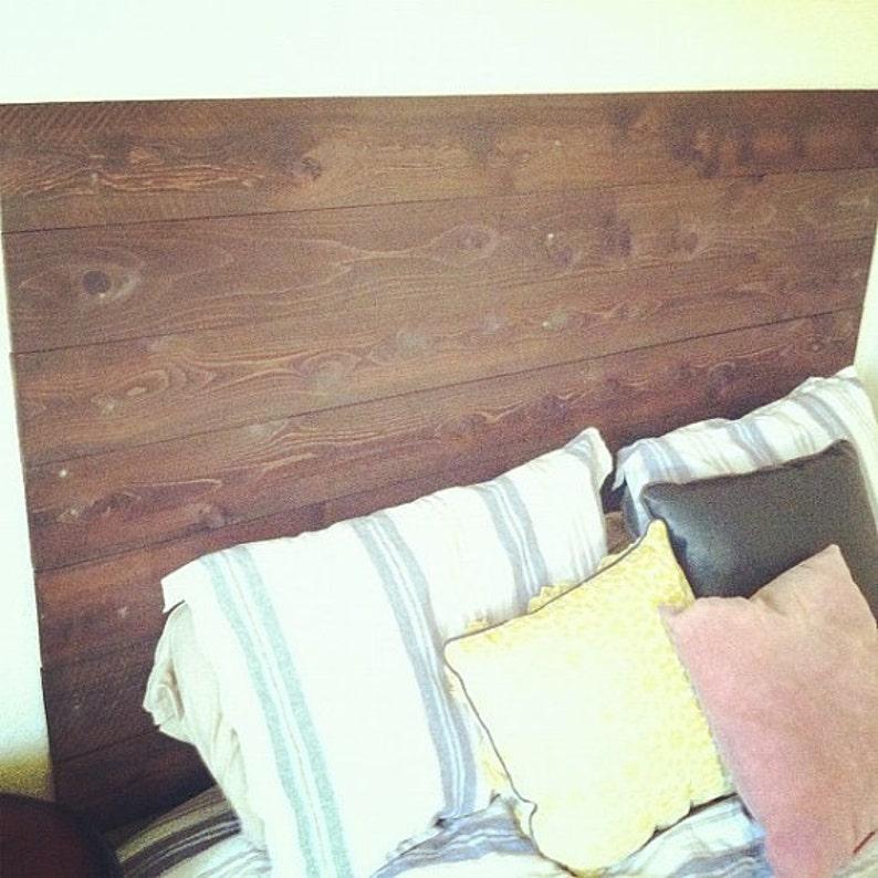 Rustic Wooden Headboard