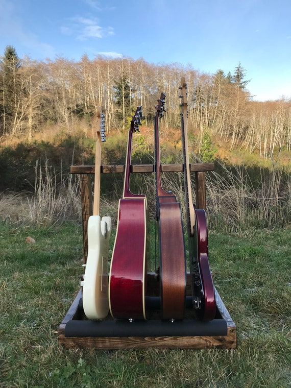 Home Decor Leaning Wooden Guitar Rack Guitar Case Instrument Holder