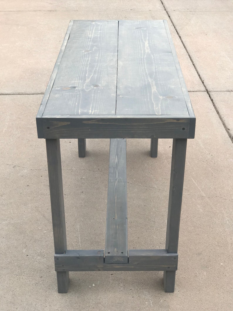 whitewash Furniture - Kitchen table Rustic High Top Wooden Dinning Table