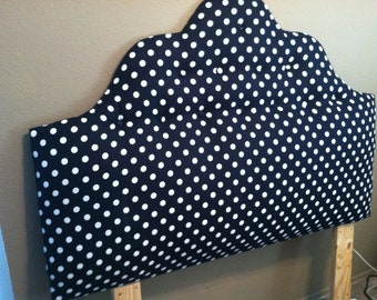 Black and White Poka Dot Headboard
