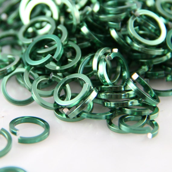 TURQUOISE Anodized Aluminum JUMP RINGS 300 5//16 16g SAW CUT Chainmail chain mail