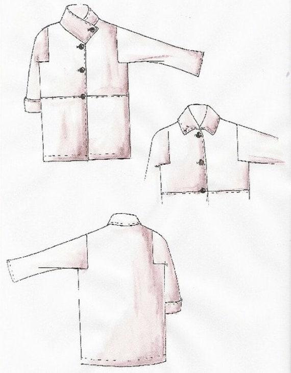 Lagenlook Einzel Schnittmuster für Mantel Pompej   Etsy