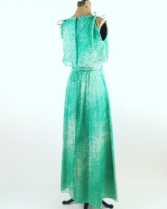 1970s Maxi Dress - House of Bianchi - Vintage Gre… - image 2