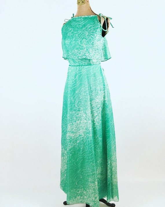1970s Maxi Dress - House of Bianchi - Vintage Gree