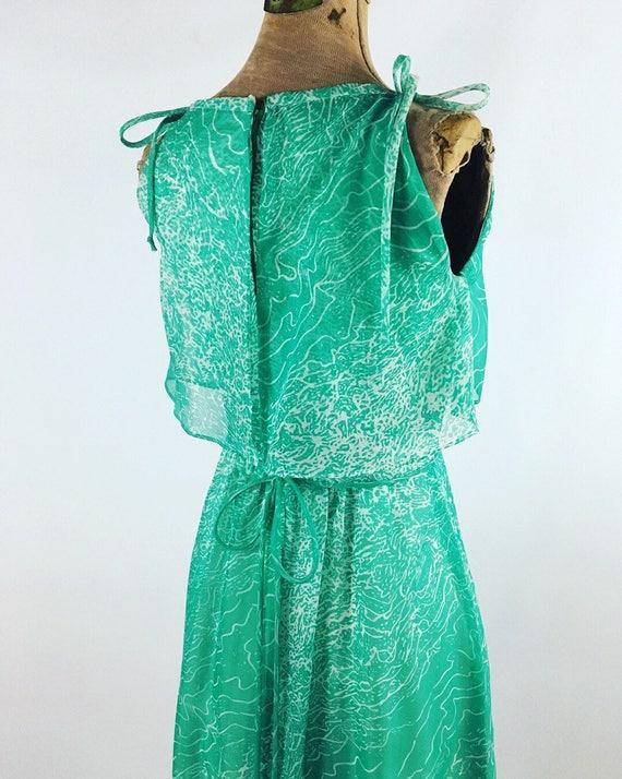 1970s Maxi Dress - House of Bianchi - Vintage Gre… - image 4