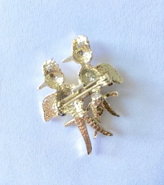 Woodpecker Brooch - Vintage 1960s Jewelry - Bird … - image 2
