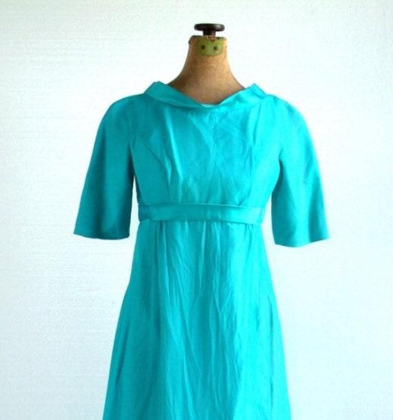 Vintage Gown - 1960s Cocktail Gown - Vintage Crepe