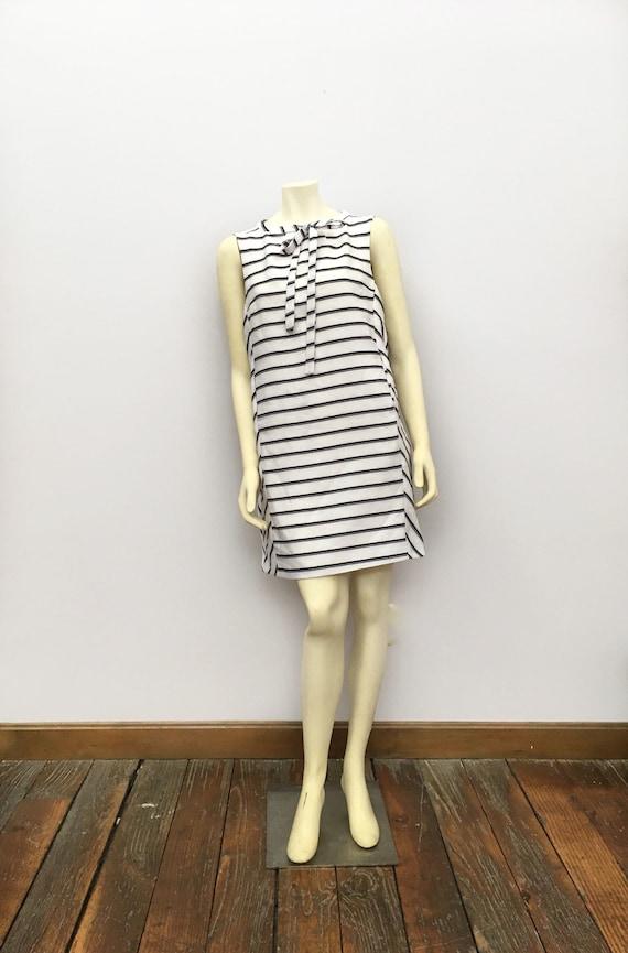 1960s Mod Dress, Vintage 1960s Mod Black White Str