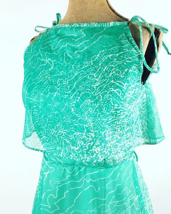 1970s Maxi Dress - House of Bianchi - Vintage Gre… - image 3