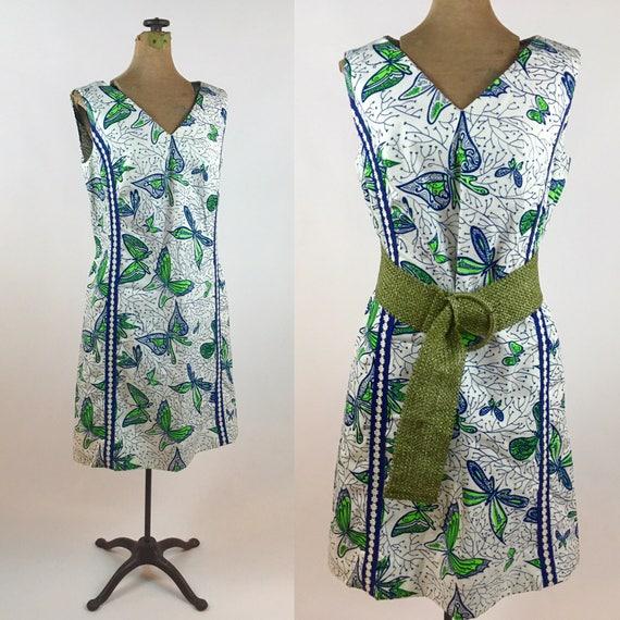 Vintage 1960s Dress - Vintage Butterfly Dress - 19