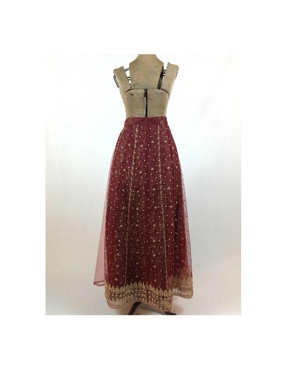 Vintage Maxi Skirt - Vintage Indian Maxi Skirt - V