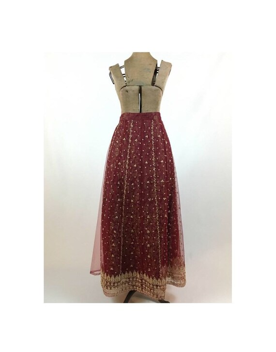Vintage Maxi Skirt - Vintage Indian Maxi Skirt - … - image 1