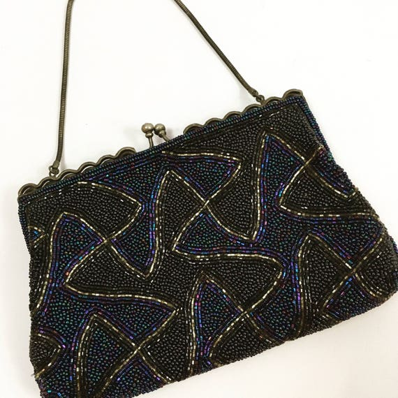 1940s Evening Bag - 1940s Beaded Evening Bag - 194