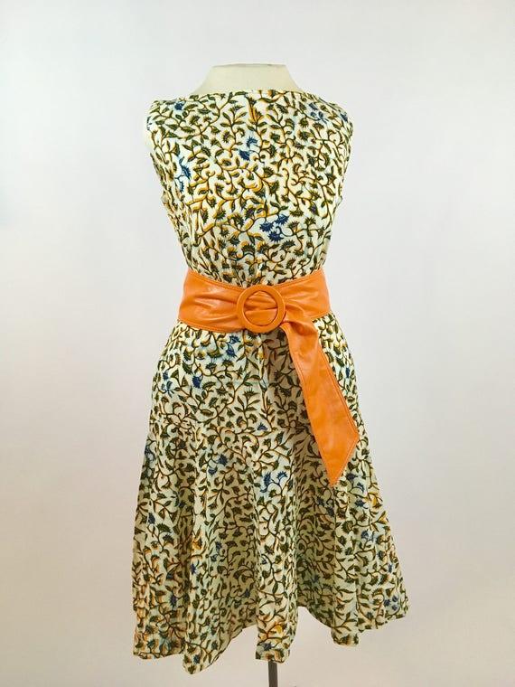 1950s Batik Dress - Bobbie Brooks - Vintage Hand B