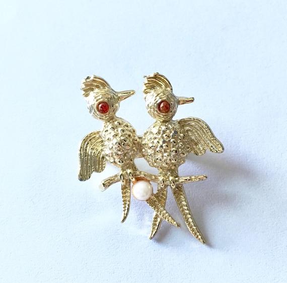 Woodpecker Brooch - Vintage 1960s Jewelry - Bird … - image 3