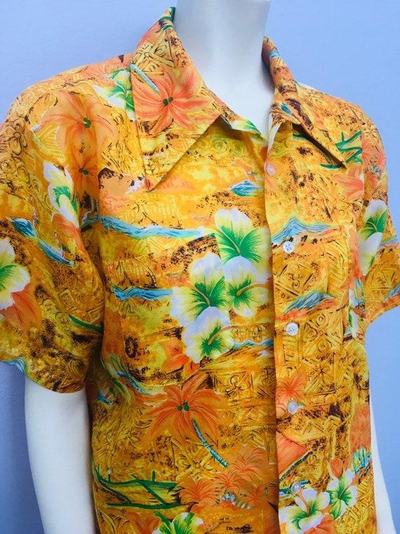 Vintage Men's Hawaiian Shirt - 1950s Hawaiian Shir