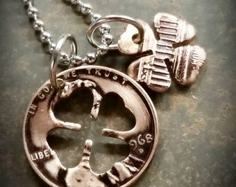 Purse coin charm 1969 coin pendant charm Authentic crown coin Genuine vintage coin R initial 52 year 1 ore from Denmark 52nd gift.