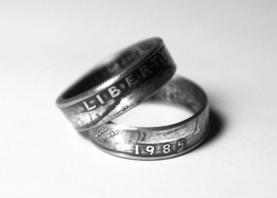 34th Wedding Anniversary Gifts: 34th 1985 Coin Ring 34th Birthday Gift 34th Anniversary