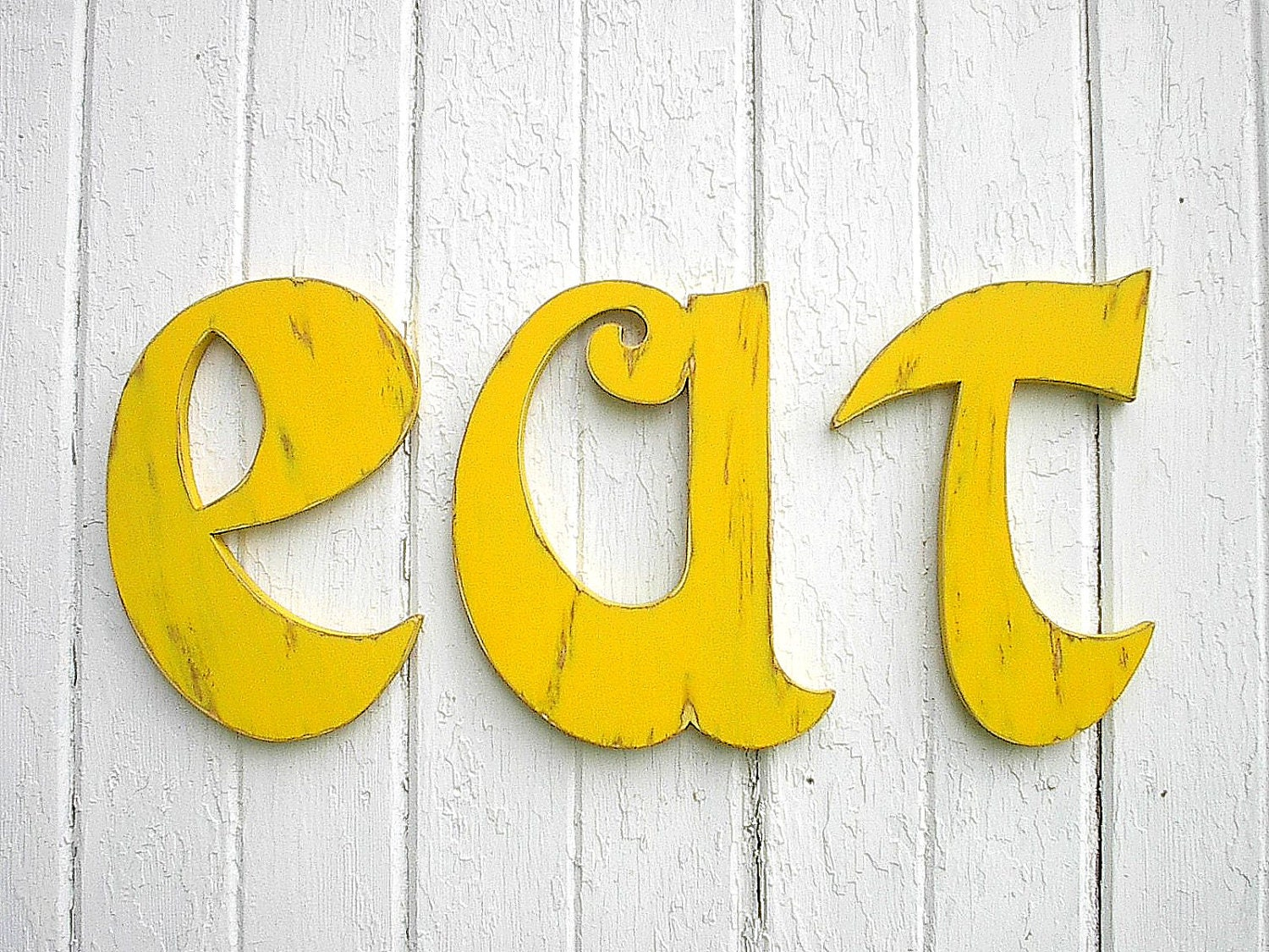 Kitchen eat sign Wooden Big Letters 12 inch Wall Hanging Wall