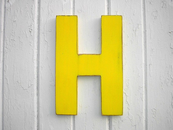 Wooden Letters Modern H Wall Letter Wood Sign Big