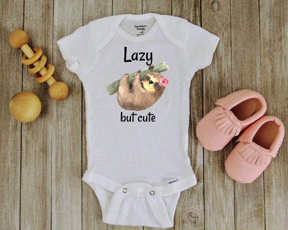 HelloWorlduk Toddler Baby Girl Cute Lazy Sloth Funny Short Sleeve Cotton T Shirts Basic Tops Tee Clothes