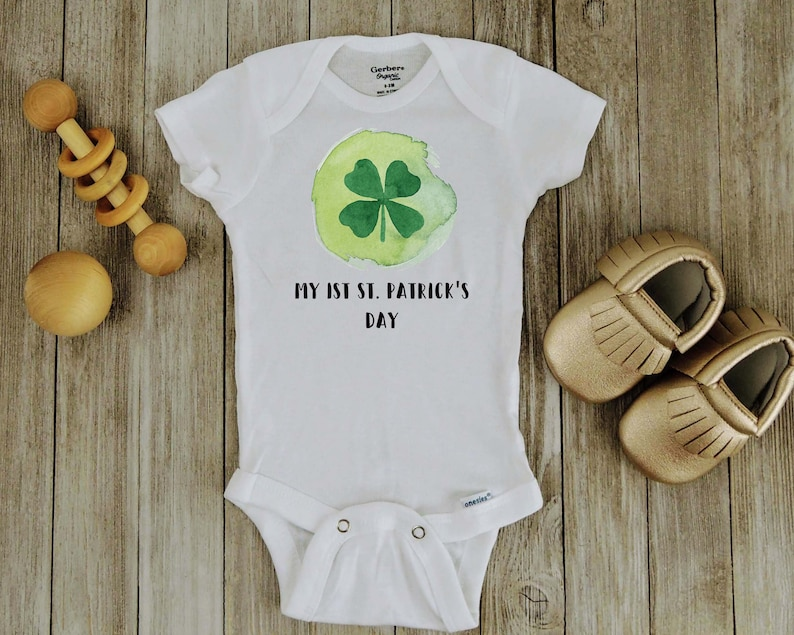 Irish Dinosaur Clover Gift for St Patrick/'s Day Baby Bodysuit Shamrock