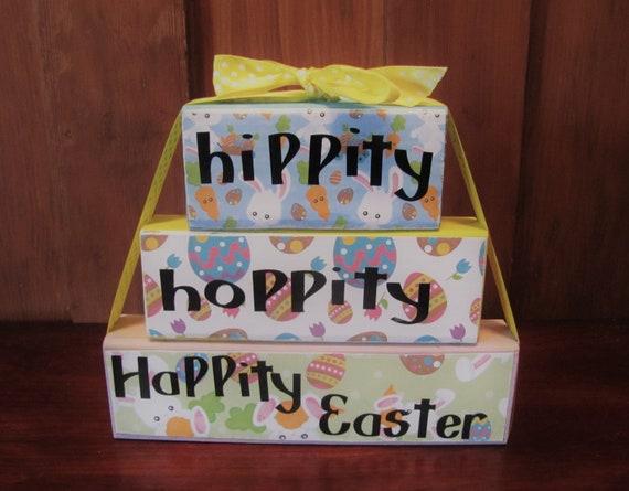 Hippity Hoppity Happity Easter Block Etsy