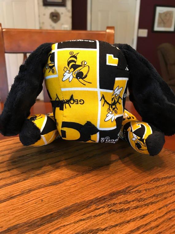 Softie Toy Dog Sleepy Georgia Tech Yellow Jacket Puppy Etsy