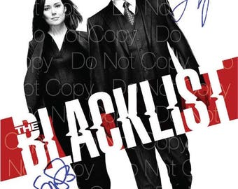 BlackList signed photo James Spader Megan Boone 8X10 inch picture poster autograph RP