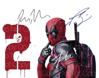 Deadpool signed Ryan Reynolds Stan Lee Josh Brolin 8X10 photo picture poster autograph RP