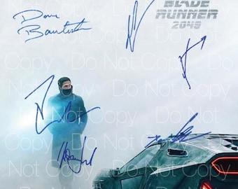 Blade Runner 2049 signed Ryan Reynolds Harrison Ford Sylvia Hoeks Denis Villeneuve Dave Bautista 8X10 photo picture poster autograph RP