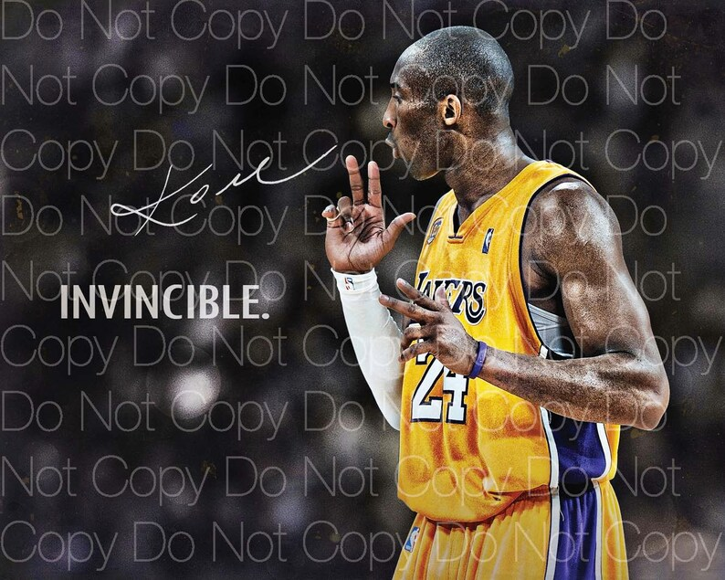 953ae9cfe635 Kobe Bryant Signed 2 LA Lakers 24 8X10 photo picture poster
