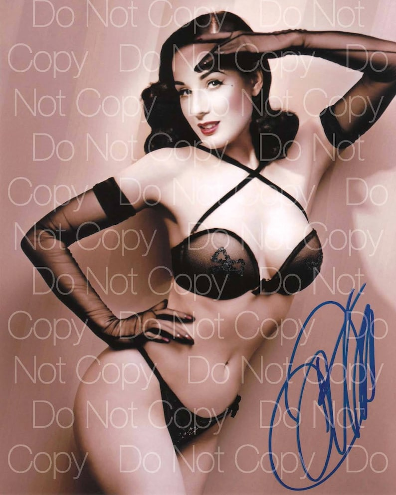 Dita Von Teese Signed 2 Sexy Hot Beautiful 8x10 Photo Picture Etsy