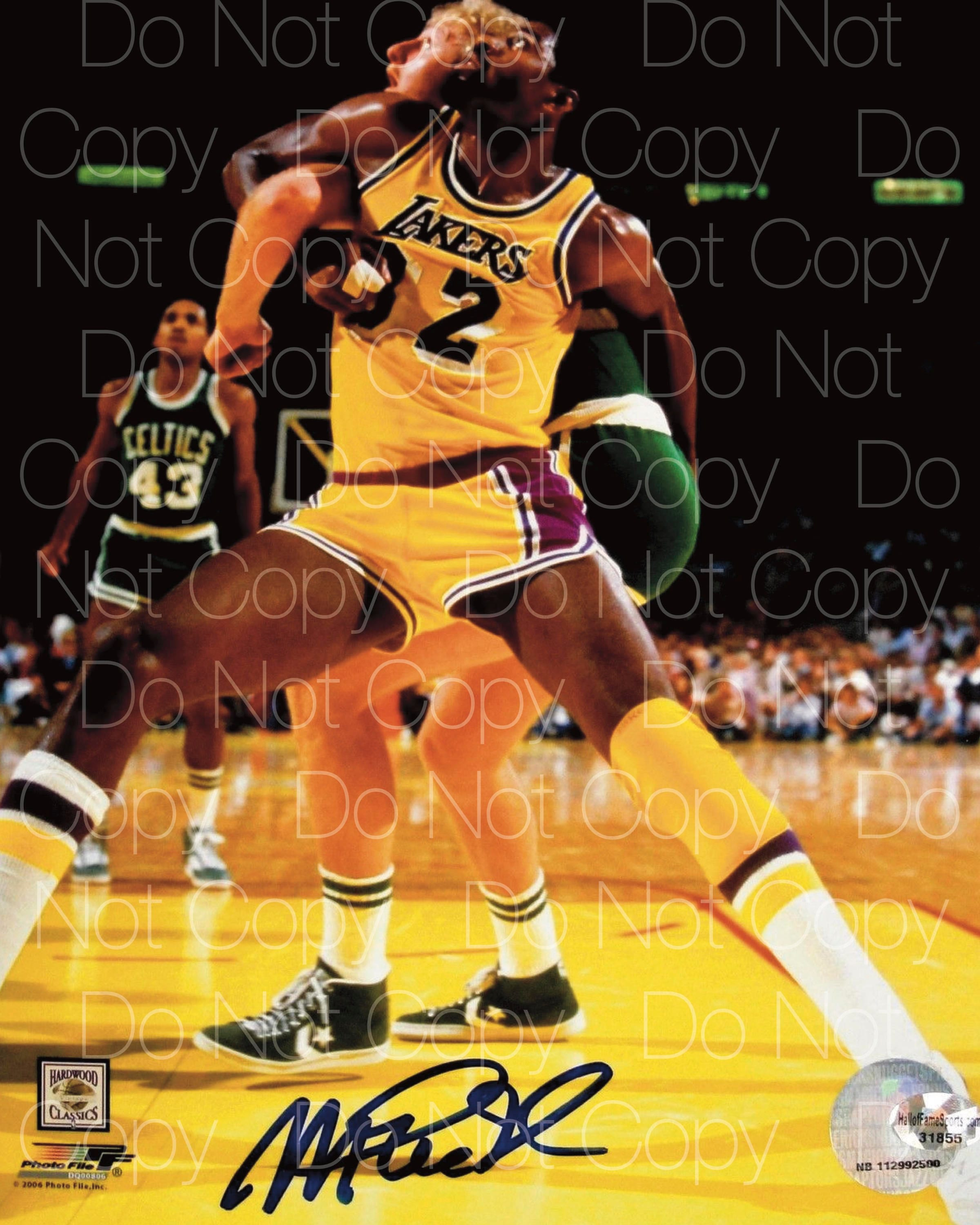 best sneakers 478d3 7106a Magic Johnson signed Lakers 8X10 photo picture poster autograph RP