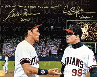 Major League signed Charlie Sheen & Corbin Bernsen 8X10 photo picture autograph poster RP