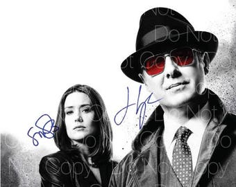 BlackList 2 signed photo James Spader Megan Boone 8X10 inch picture poster autograph RP