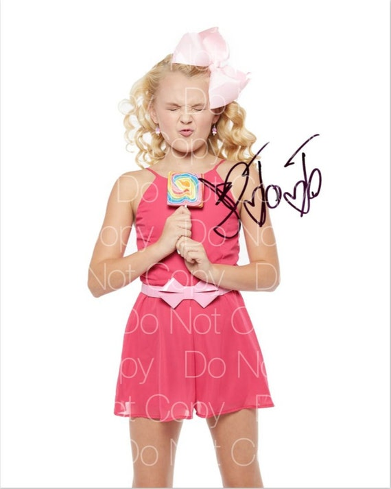 jojo siwa signed dance moms 8x10 photo picture poster etsy