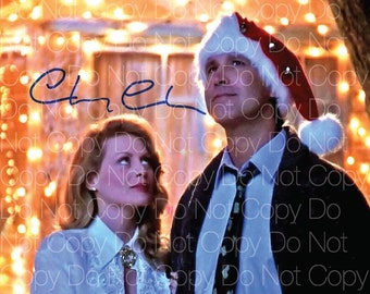 Christmas Vacation signed Chevy Chase 8X10 photo picture autograph RP