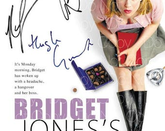 Bridget Jones Diary signed Renée Zellweger Colin Firth Hugh Grant 8X10 photo picture poster autograph RP