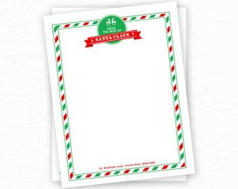santa stationery letter from santa christmas writing paper christmas stationery christmas stocking christmas printables for kids