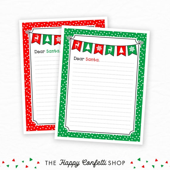 christmas writing paper for kids